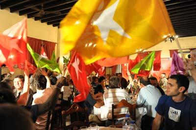 Jantar no Barreiro juntou centena e meia de apoiantes da candidatura. Foto Paulete Matos