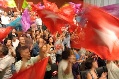 Comício do Bloco em Santa Maria da Feira - Foto de Paulete Matos