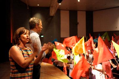 Comício em Faro. Foto de Paulete Matos