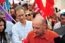 Miguel Portas e Francisco Louçã em Mértola. Foto de Paulete Matos