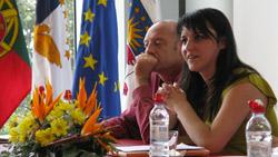 Miguel Portas e Marisa Matias no debate em Angra do Heroísmo