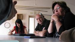 Marisa Matias, Miguel Portas e Zuraida Soares. Foto Bloco