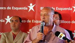 Miguel Portas fala durante o almoço na Madeira