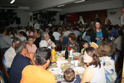 Jantar-comício em Salvaterra de Magos