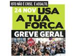 Folheto de apelo à greve geral dos estudantes