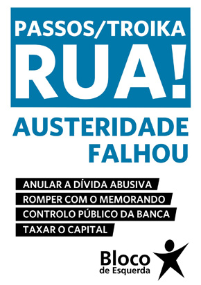 Novo cartaz do Bloco