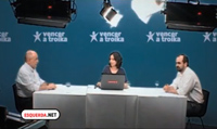 João Semedo e Daniel Oliveira, no debate moderado por Mariana Carneiro