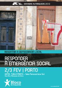 Cartaz das Jornadas Autárquicas 2013 do Bloco de Esquerda