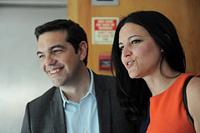 Alexis Tsipras e Marisa Matias no Porto. Foto Paulete Matos
