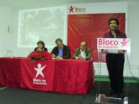 Eduardo Pereira no lançamento da candidatura do Bloco em VIla Nova de Gaia