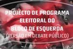 Programa do Bloco para 2009 em debate
